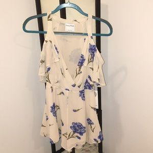 New Privacy Please cream floral romper